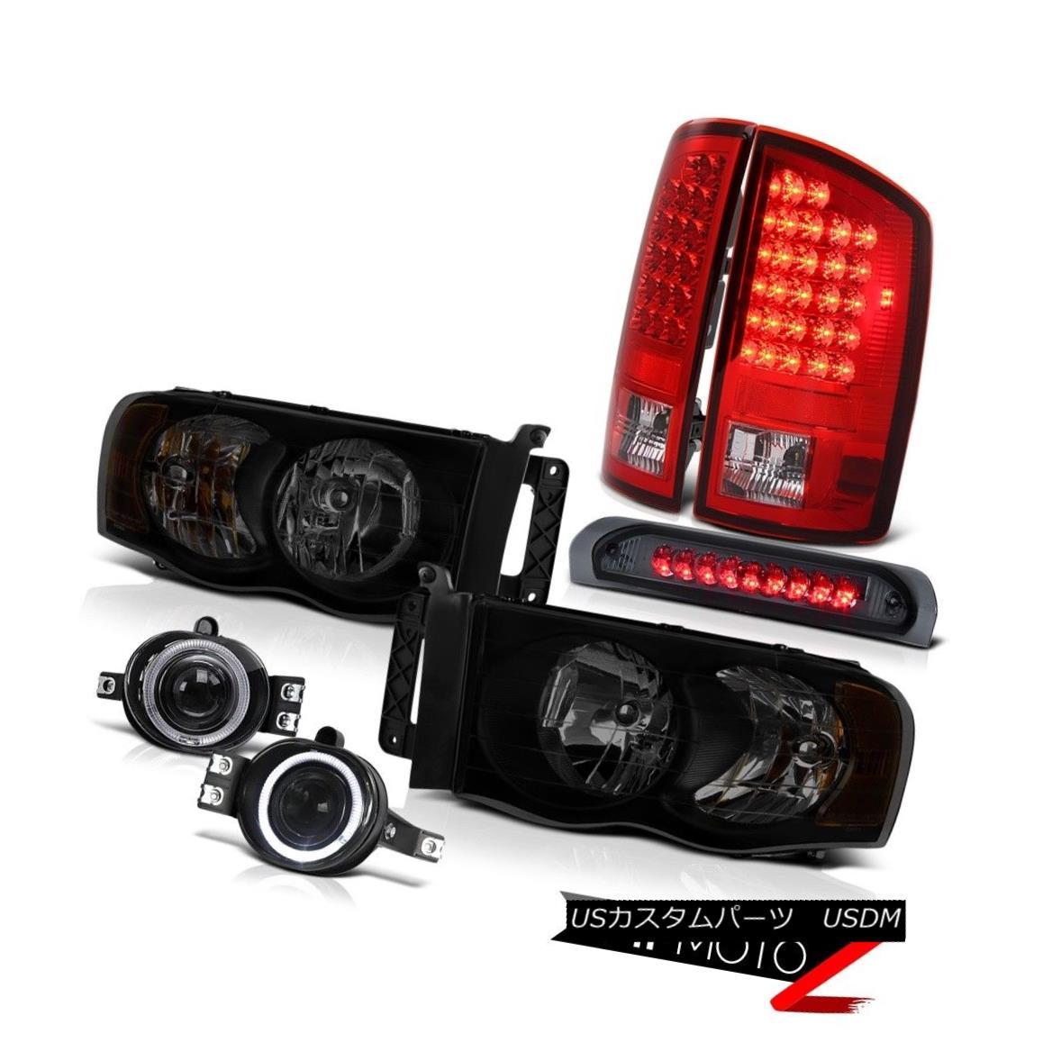 テールライト 02-05 Ram 1500 2500 3500 St Headlamps Foglights Roof Cab Light Red Tail Lights 02-05 Ram 1500 2500 3500 St Headlamps Foglightsルーフキャブライトレッドテールライト