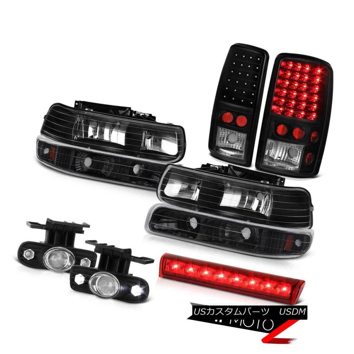 テールライト 2000-2006 Tahoe 4X4 Roof cab light foglights infinity black taillights headlamps 2000-2006タホ4X4ルーフキャブライトフォグライトインフィニティブラックテールライトヘッドランプ