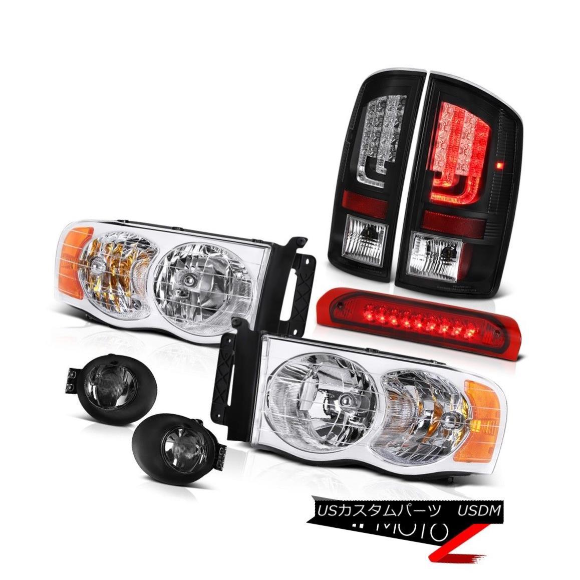 テールライト 02-05 Dodge Ram 2500 1500 4.7L Tail Lamps Fog Headlights 3RD Brake Lamp Oe STyle 02-05 Dodge Ram 2500 1500 4.7Lテールランプフォグヘッドライト3RDブレーキランプOe STyle