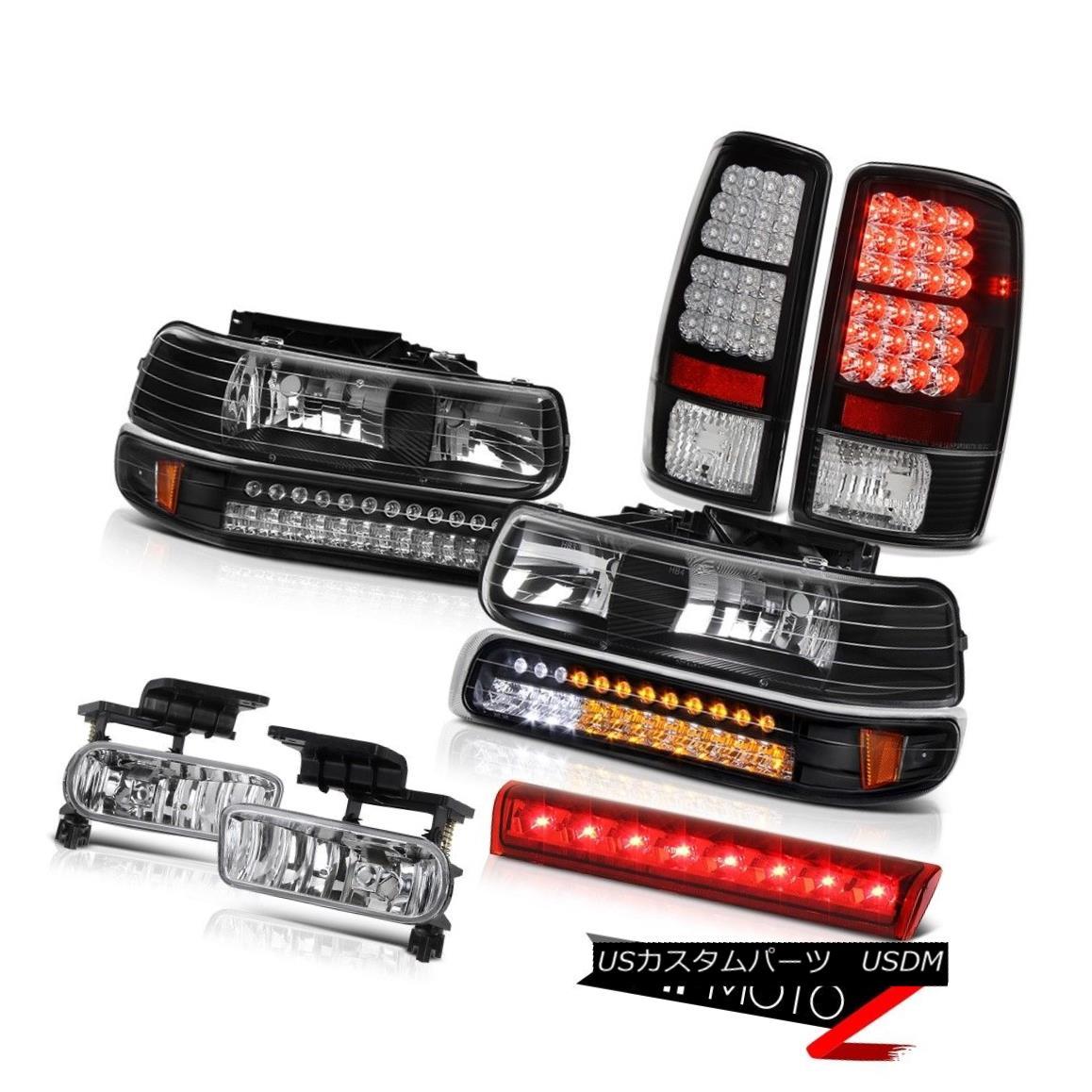 テールライト 00-06 Chevy Tahoe 4X4 Bloody red 3rd brake light fog lamps tail Headlights LED 00-06シボレー・タホ4X4ブラッディ・レッド第3ブレーキ・ライト・フォグ・ランプ・テールヘッドライトLED