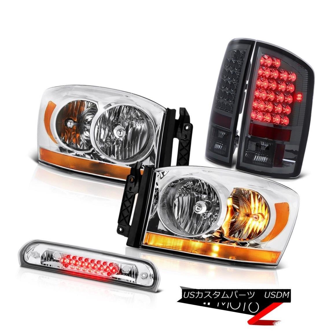 テールライト 07-08 Dodge Ram 1500 Slt Headlamps 3RD Brake Light Rear Lights