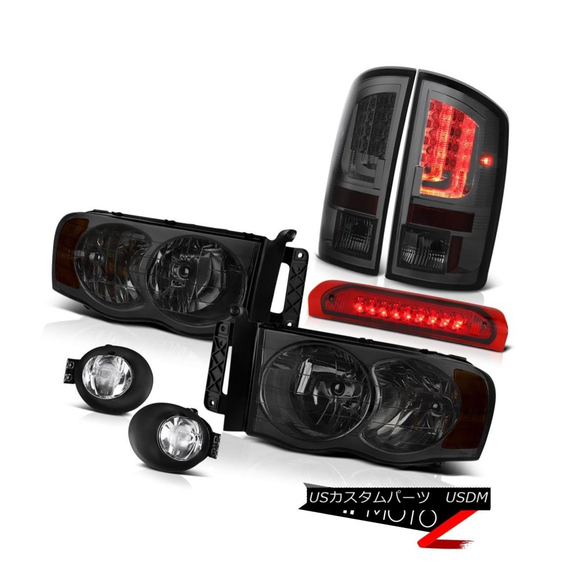 テールライト 2003-2005 Dodge Ram 1500 3.7L Tail Lamps Fog Headlights Red High STop Lamp LED 2003-2005 Dodge Ram 1500 3.7Lテールランプ霧のヘッドライトレッドハイSTOPランプLED