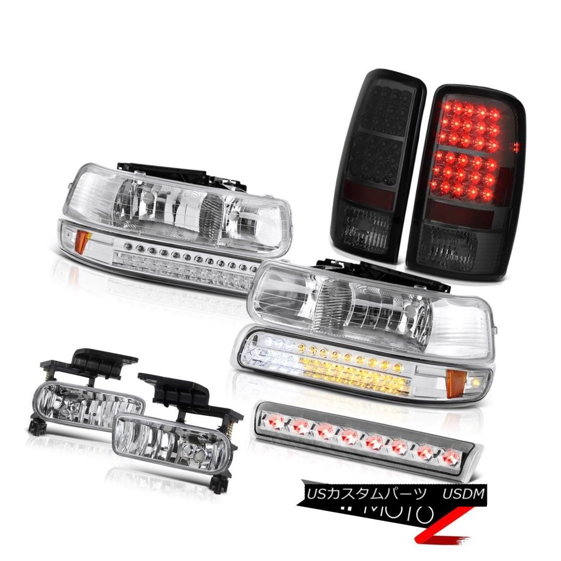 テールライト 00-06 Chevy Tahoe LS Euro clear headlamps taillamps foglights 3rd brake light 00-06 Chevy Tahoe LSユーロクリアヘッドランプテールランプfoglights第3ブレーキライト