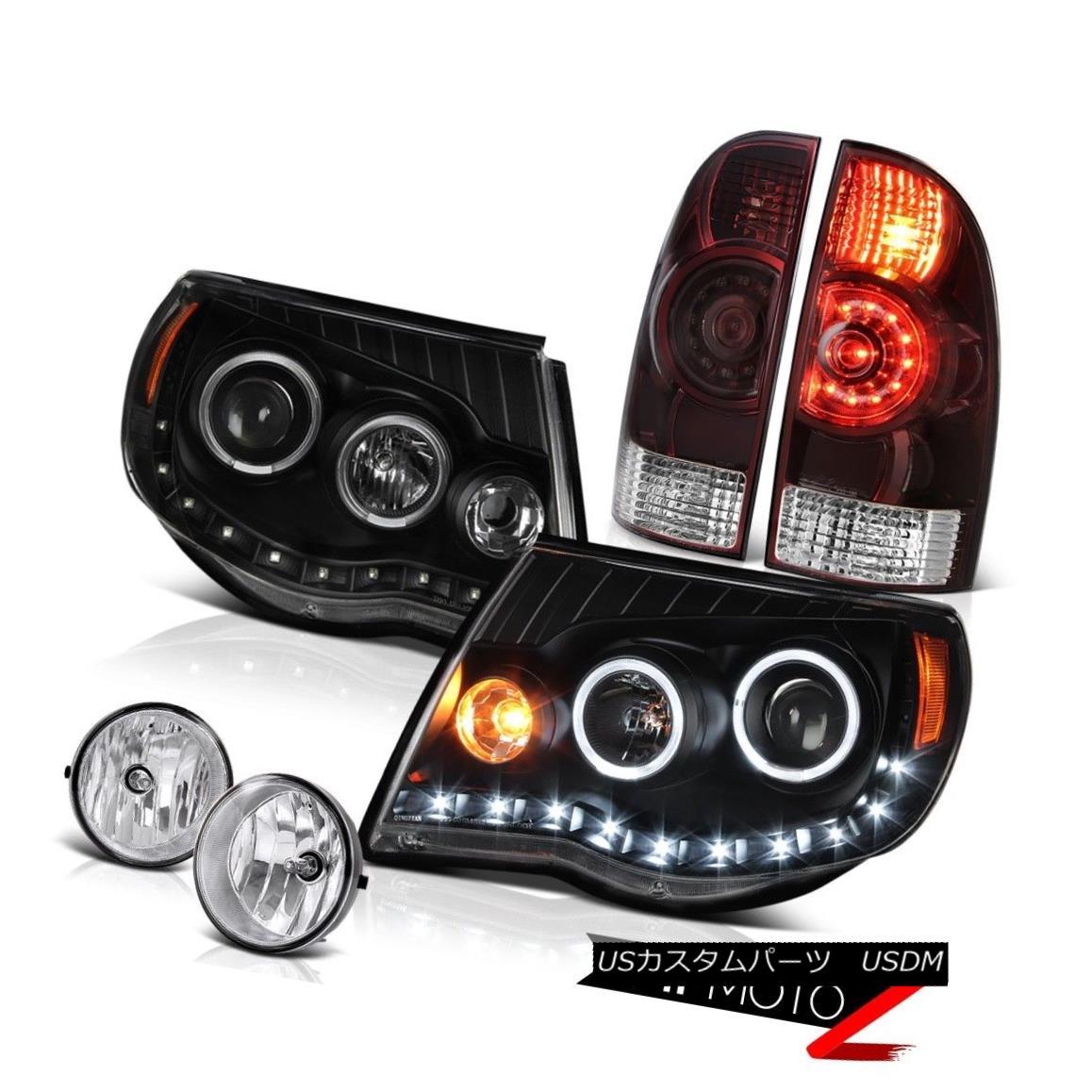 テールライト 05-11 Tacoma TRD Offroad Tail lamps headlights foglights LED Halo Rim Dual Halo 05-11タコマTRDオフロードテールランプヘッドライトフォグライトLED Halo Rimデュアルヘイロー