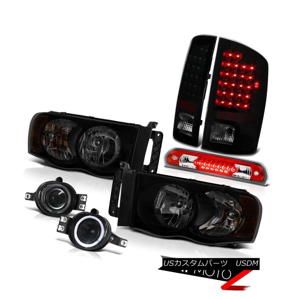 テールライト 2003-2005 Dodge Ram 2500 3.7L Headlights Foglamps Red 3RD Brake Lamp Tail Lamps 2003-2005 Dodge Ram 2500 3.7Lヘッドライトフォグランプ赤3RDブレーキランプテールランプ