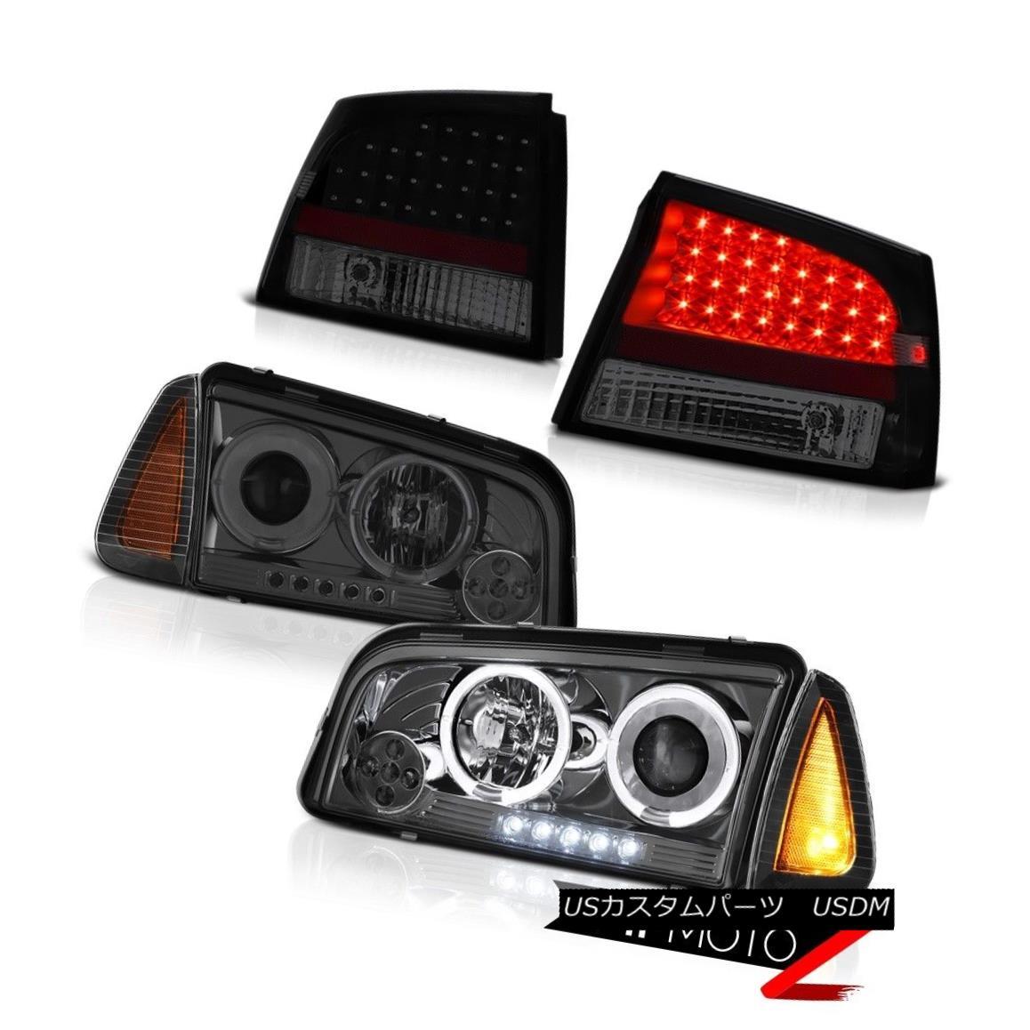テールライト 06 07 08 Dodge Charger DUB Tail lamps inky black corner light smokey headlights 06 07 08ダッジ・チャージャーダブテール・ランプインク・ブラック・コーナー・ライト・スモー・ヘッドライト