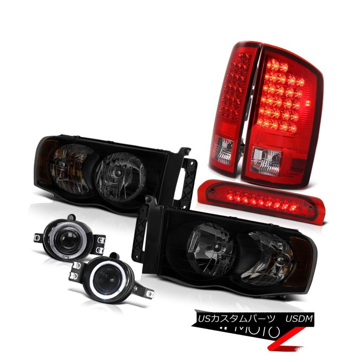 テールライト 2002-2005 Dodge Ram 1500 3.7L Headlamps Foglamps Red High Stop Lamp Tail Lamps 2002-2005 Dodge Ram 1500 3.7Lヘッドライトフォグランプ赤色ハイストップランプテールランプ