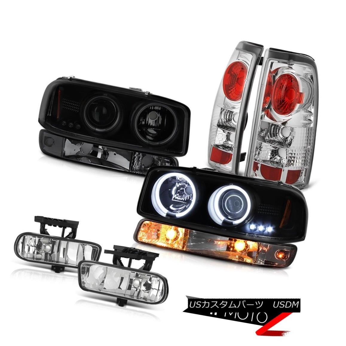 テールライト 1999-2002 Sierra 6.6L Fog lamps taillights smoked signal lamp ccfl headlights 1999-2002 Sierra 6.6L霧ランプテールライト煙信号ランプccflヘッドライト