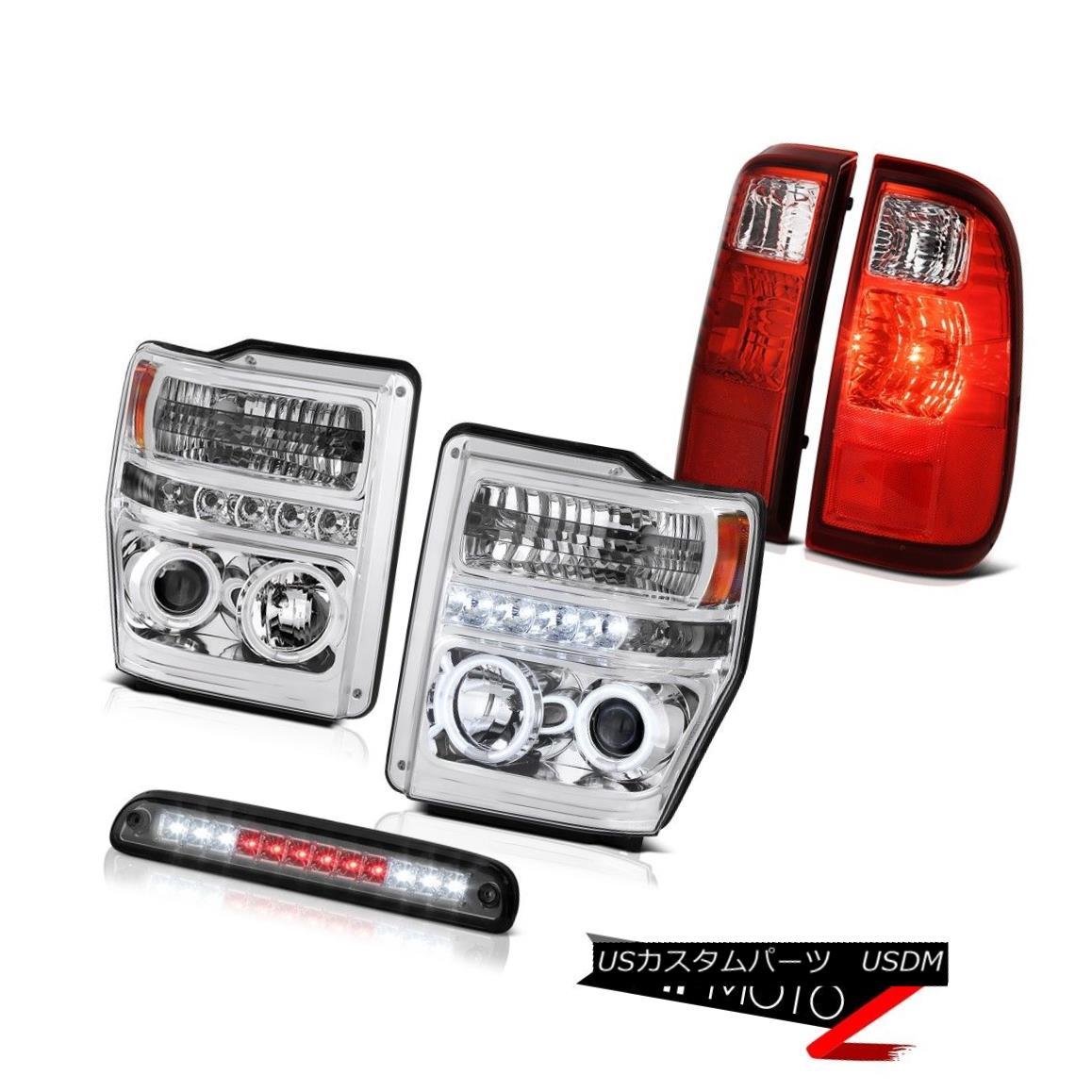 テールライト CCFL Halo Headlights Third Brake Cargo LED Red Signal Tail Lights 08 09 10 F250 CCFL Haloヘッドライト第3ブレーキ貨物LEDレッド信号テールライト08 09 10 F250