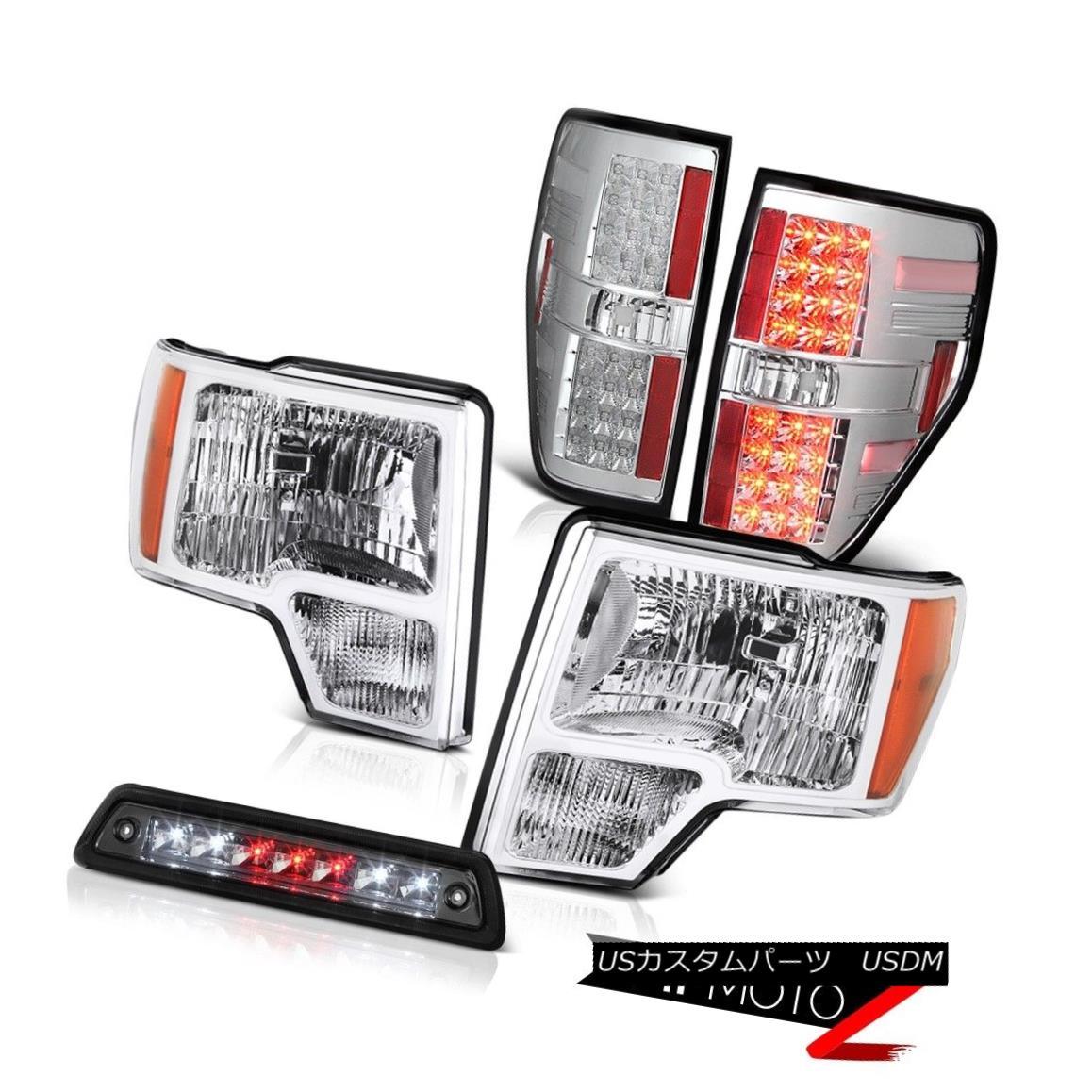 テールライト 09-14 FORD F150 XL Smokey 3rd brake lamp euro clear taillights headlamps LED SMD 09-14フォードF150 XLスモーキー第3ブレーキランプユーロクリアテールライトヘッドランプLED SMD