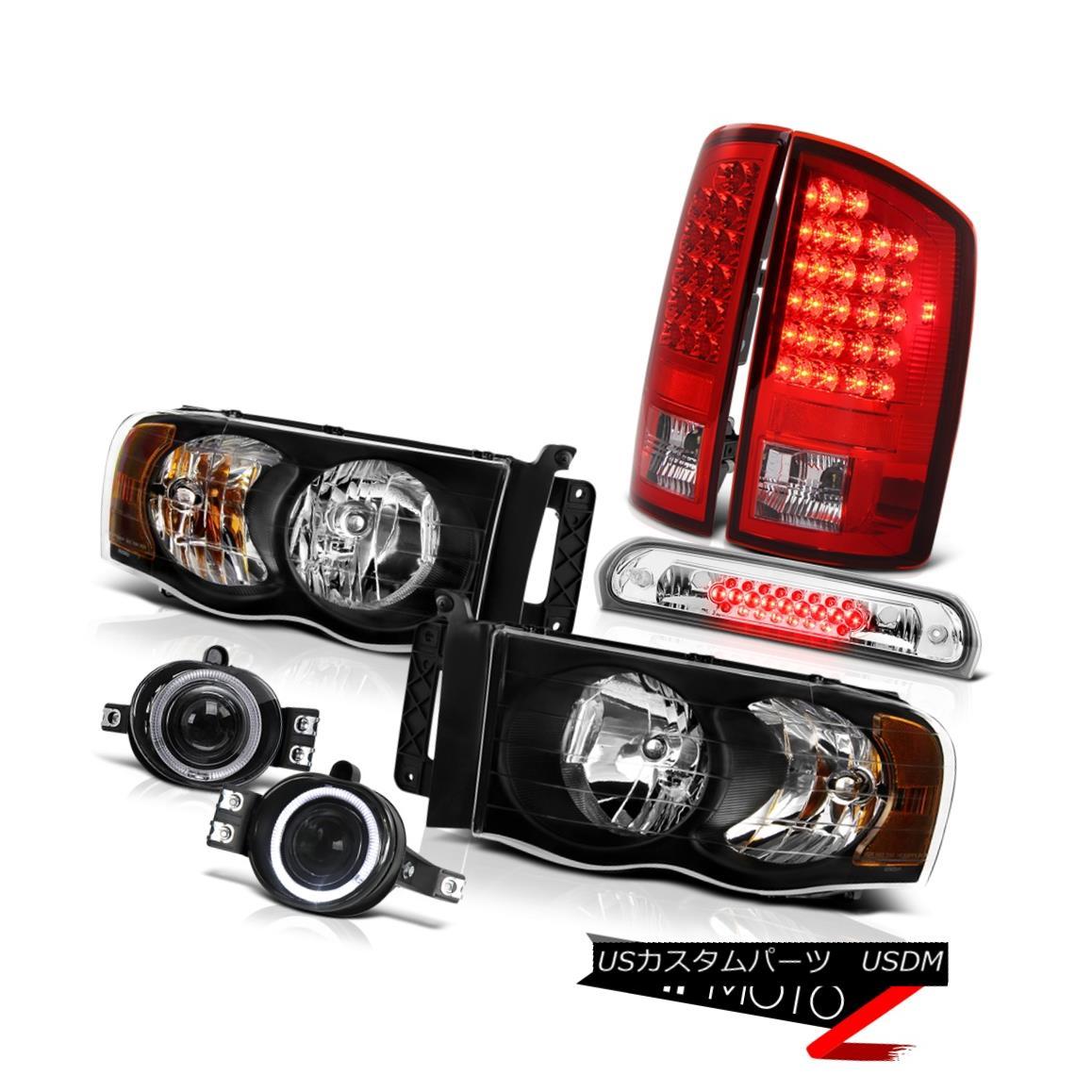 テールライト 2002-2005 Ram SLT Headlights Rosso Red LED Tail Lights Euro Fog Roof Brake Cargo 2002-2005ラムSLTヘッドライトロッソレッドLEDテールライトユーロフォグ屋根ブレーキカーゴ