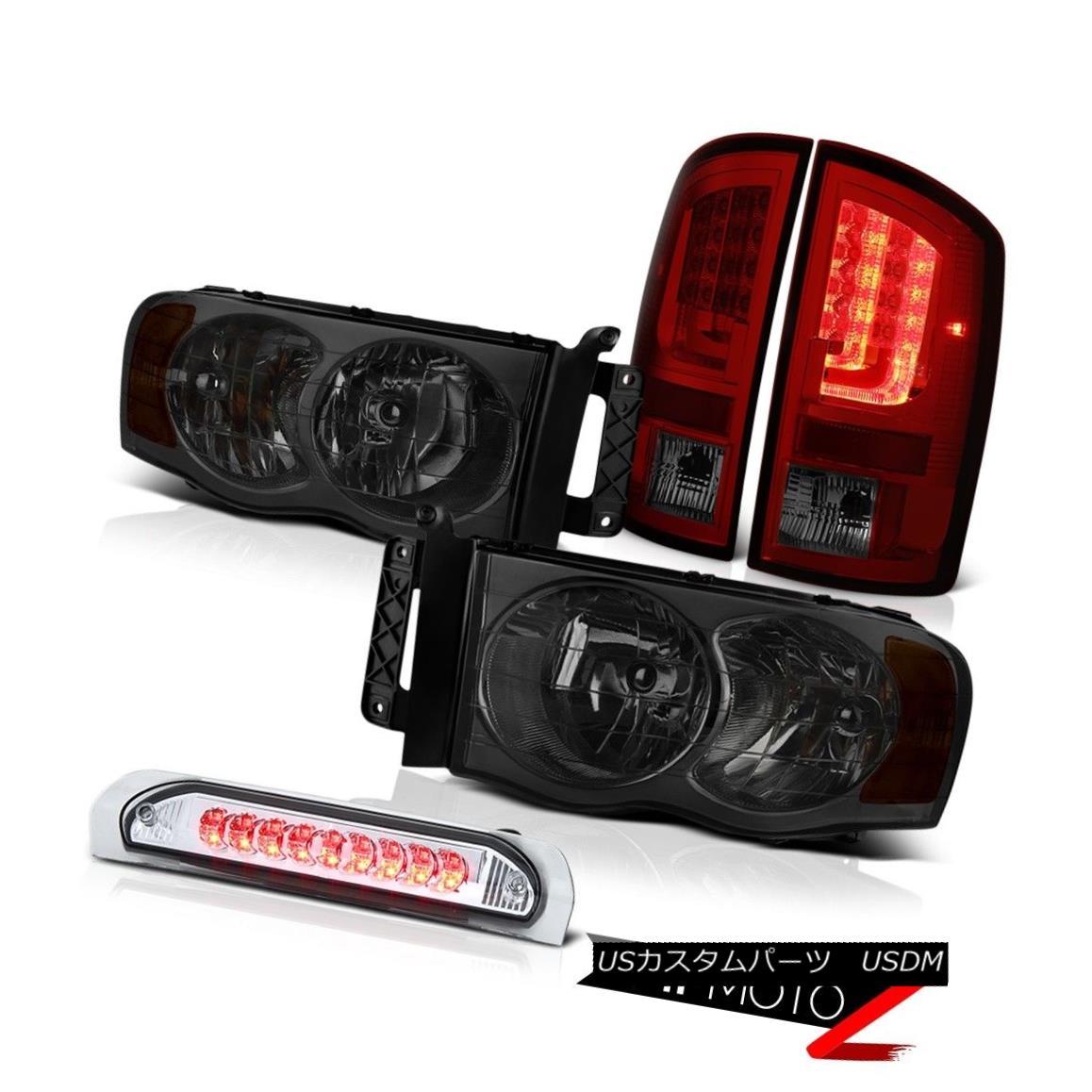 テールライト 2002-2005 Dodge Ram 1500 WS Smokey Red Tail Lights Headlamps Roof Cargo Lamp LED 2002-2005 Dodge Ram 1500 WSスモーキーレッドテールライトヘッドランプ屋根カーゴランプ