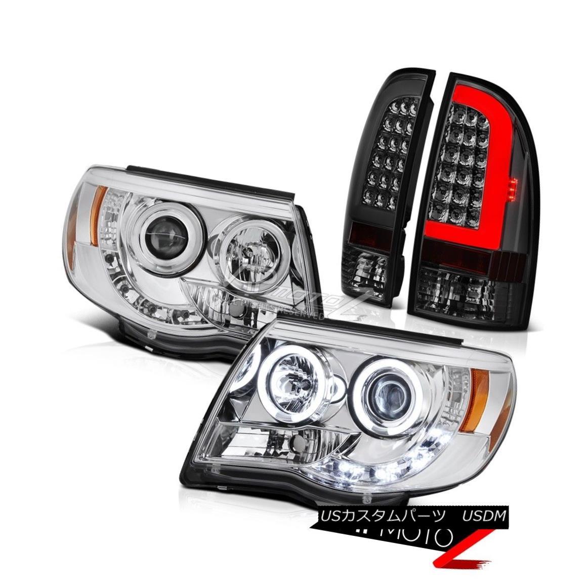 テールライト 05-10 11 Toyota Tacoma Fiber Optic Rear Sterling Chrome Head Lights Replacement 05-10 11トヨタタコマファイバーオプティクスリアスターリングクロームヘッドライトの交換