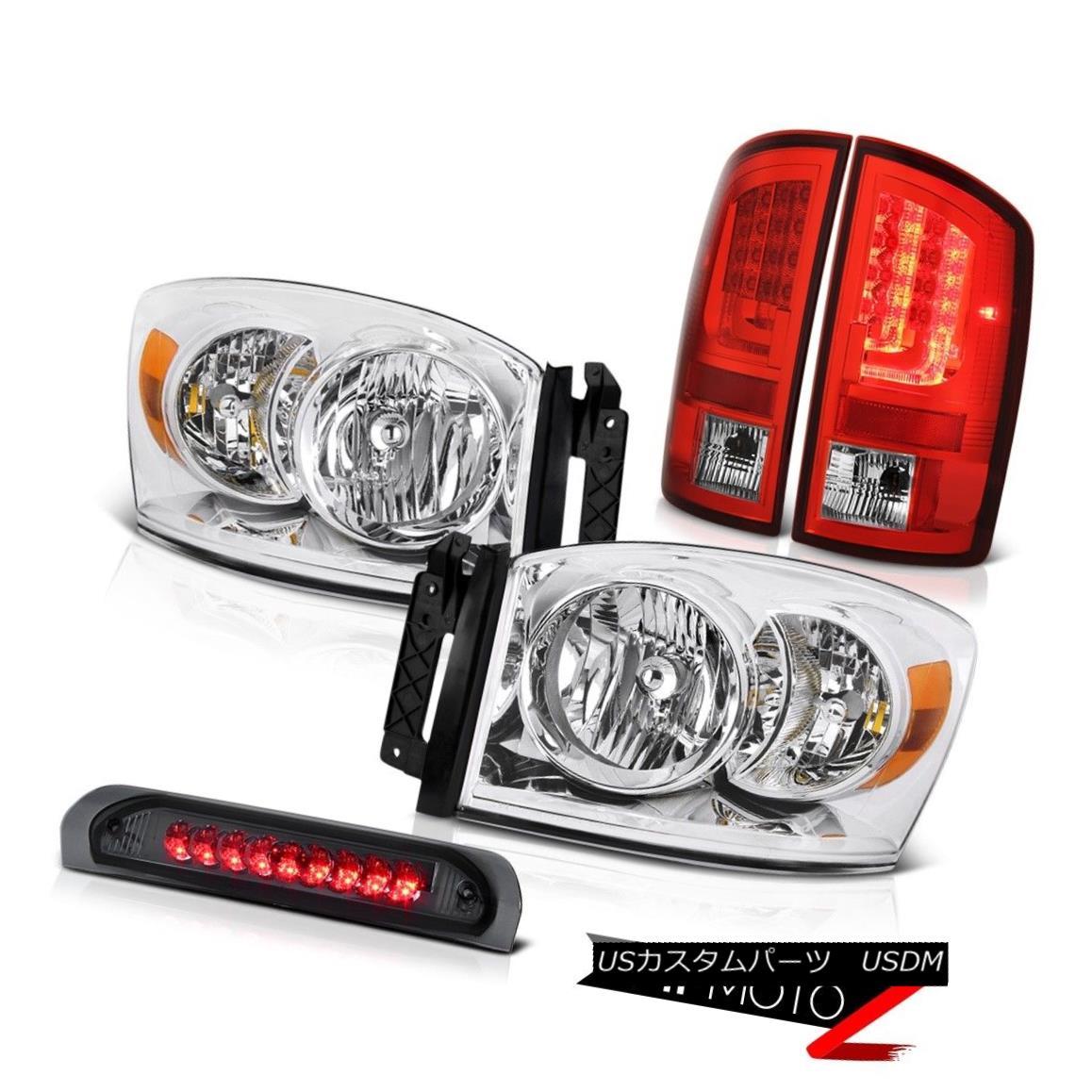 テールライト 2007-2009 Dodge Ram 1500 3.7L Red Tail Lamps Headlamps Roof Brake Light Assembly 2007-2009ダッジラム1500 3.7Lレッドテールランプヘッドランプルーフブレーキライトアセンブリ
