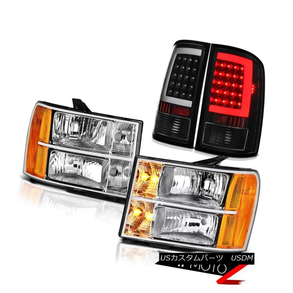 テールライト 08-14 Gmc Sierra 3500 SL Rear Brake Lights Headlamps OLED Prism