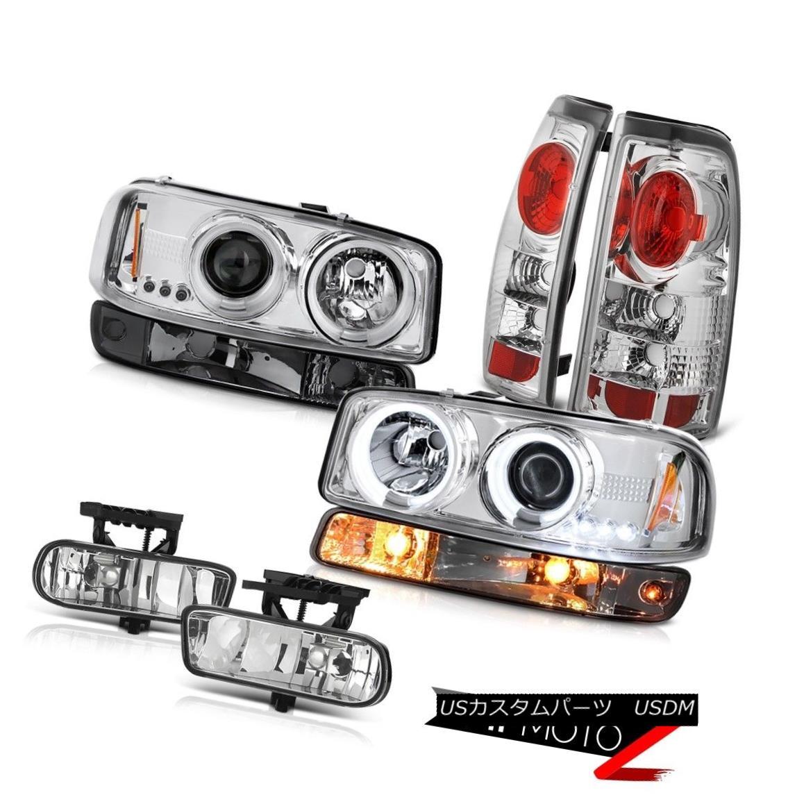 テールライト 1999-2002 Sierra 3500HD Fog lamps tail brake smokey signal light ccfl Headlights 1999-2002 Sierra 3500HDフォグランプテールブレーキスモーシグナルライトccflヘッドライト