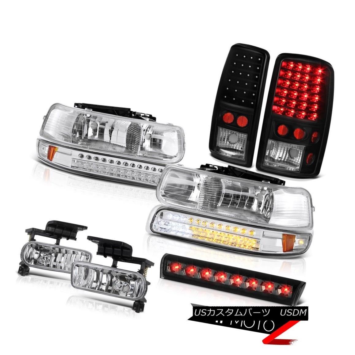 テールライト 2000-2006 Suburban 1500 Z71 Third brake light chrome fog lamps tail Headlamps 2000-2006郊外1500 Z71第3ブレーキライトクロームフォグランプテールヘッドランプ