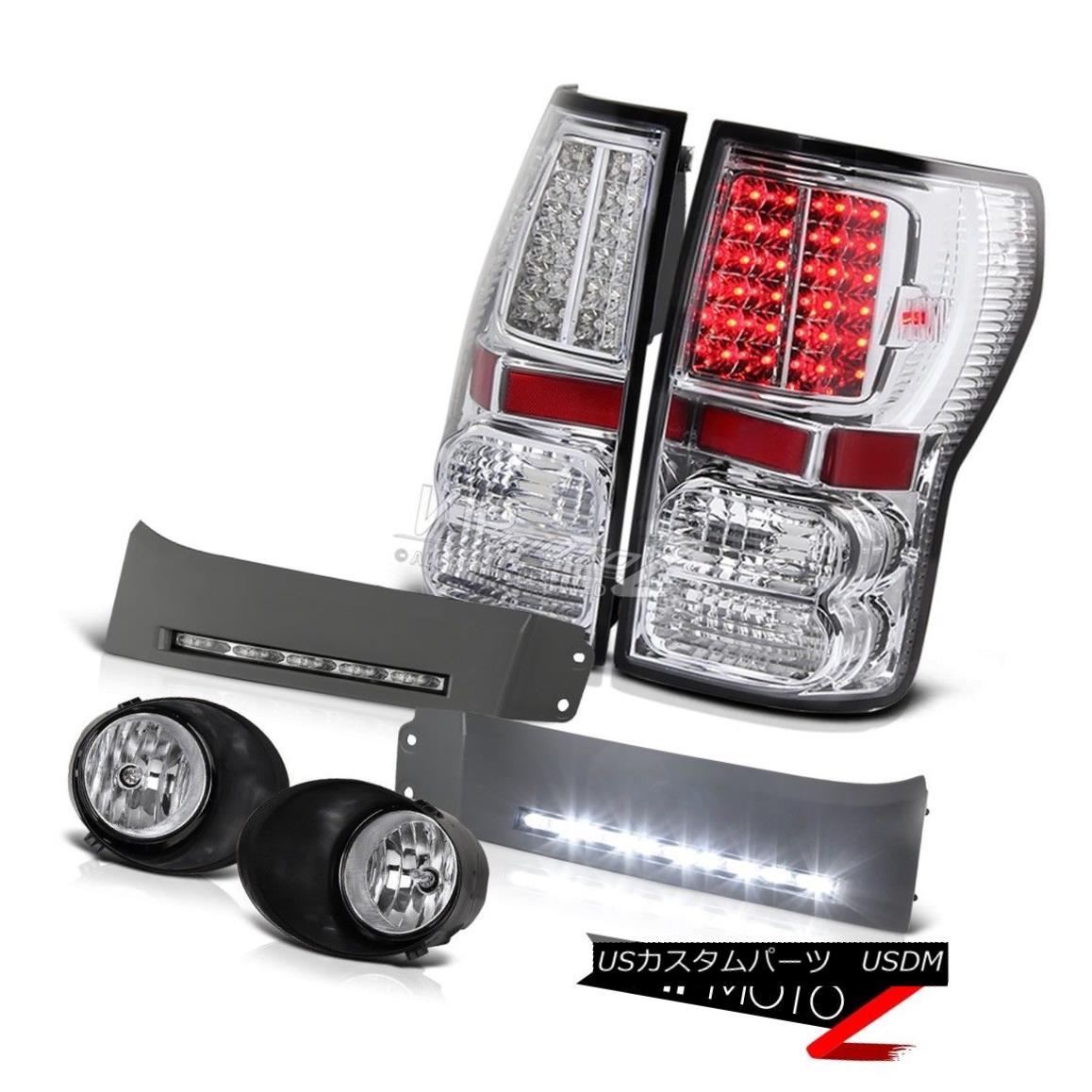 テールライト 2007-13 Tundra Exclusive Chrome LED Taillights Clear Fog Bumper+DRL LED Trim Fog 2007?13年トンドラ独占クロームLEDテールライトクリアフォグバンパー+ DRL LEDトリムフォグ
