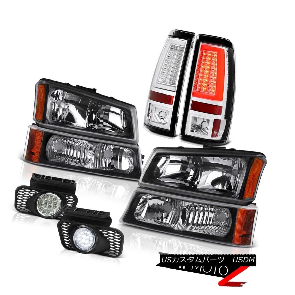 テールライト 03-06 Silverado 1500 Clear Chrome Tail Lamps Headlamps Fog Lights