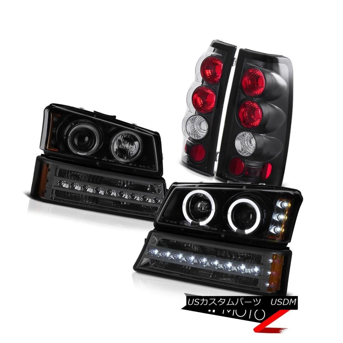 テールライト 03 04 05 06 Chevy Silverado Tail lights bumper light darkest smoke headlights 03 04 05 06 Chevy Silveradoテールライトバンパーライトダークスモークヘッドライト