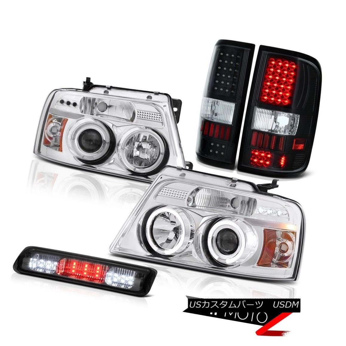テールライト 04-08 Ford F150 XL Third Brake Light Inky Black Parking Lights Headlights LED 04-08 Ford F150 XL第3ブレーキライトインキブラックパーキングライトヘッドライトLED
