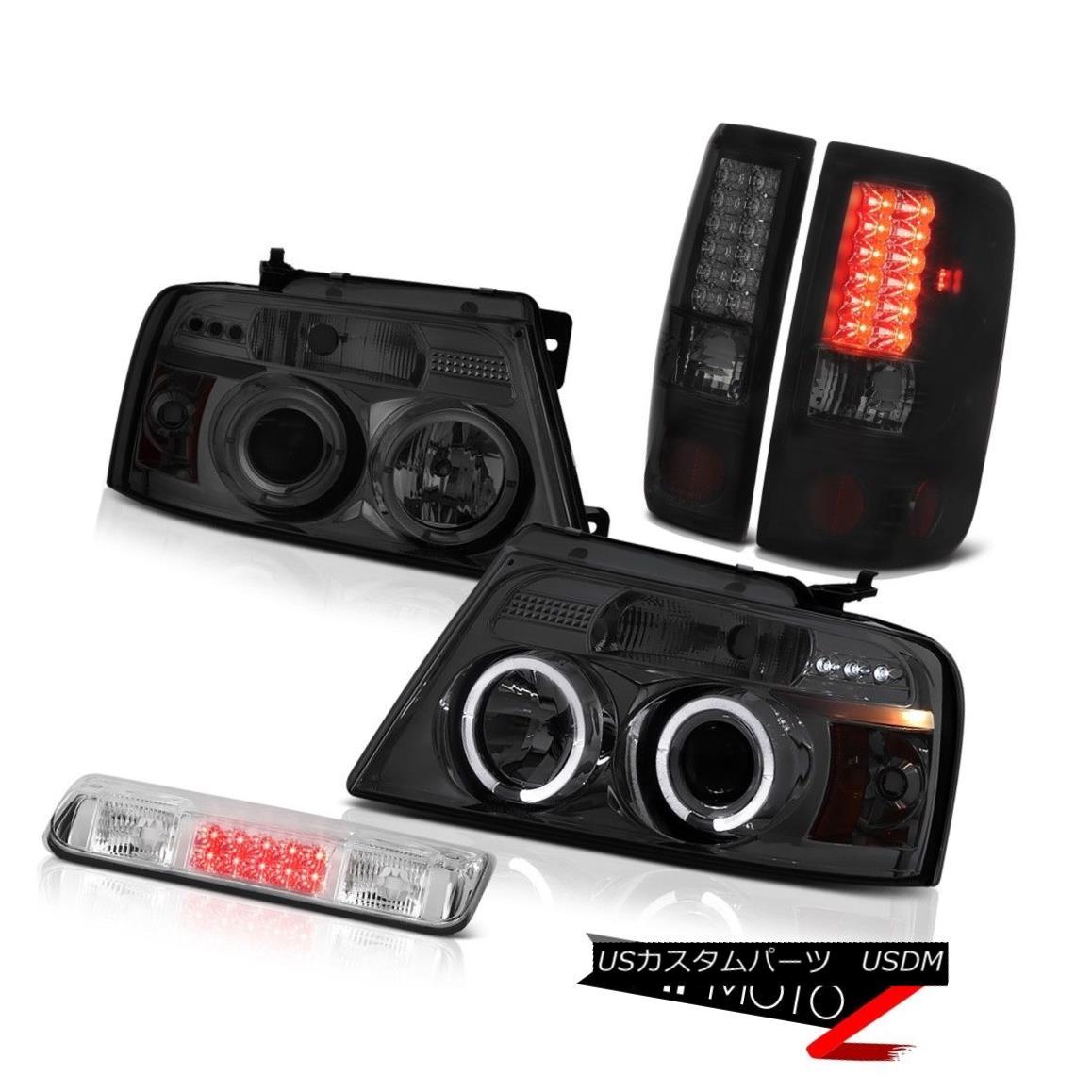 テールライト 04-08 Ford F150 XLT Roof Cab Lamp Headlights Darkest Smoke Parking Brake Lights 04-08 Ford F150 XLTルーフキャブのランプヘッドライトダークスモークスモークパーキングブレーキライト