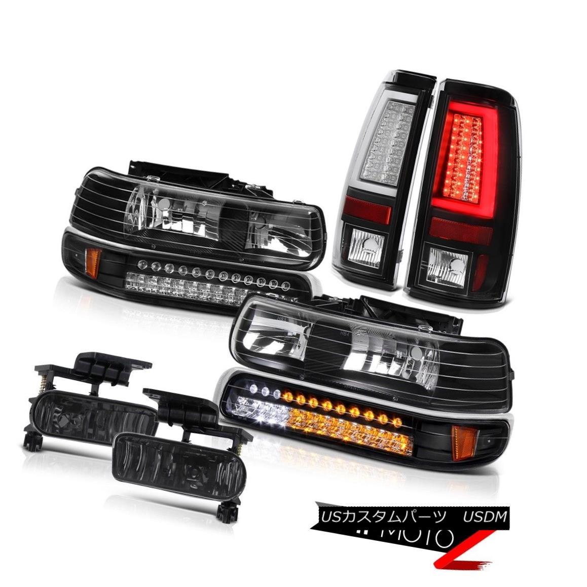 テールライト 99 00 01 02 Silverado 4WD Tail Lamps Headlamps Fog Lights Neon Tube Tron Style 99 00 01 02シルバラード4WDテールランプヘッドランプフォグライトネオンチューブトロンスタイル