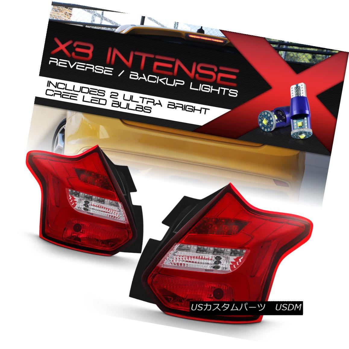 テールライト [CREE Reverse Bulbs]12-14 Focus Hatchback Red LED Bar/Tube Sequential Tail Light [CREE逆電球] 12-14フォーカスハッチバック赤LEDバー/チューブシーケンシャルテールライト
