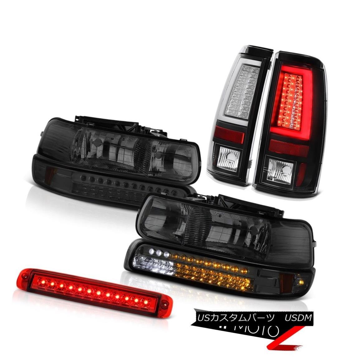 テールライト 99-02 Silverado LT Black Tail Lamps Red High Stop Light Headlights Light Bar LED 99-02 Silverado LTブラックテールランプレッドハイストップライトヘッドライトライトバーLED
