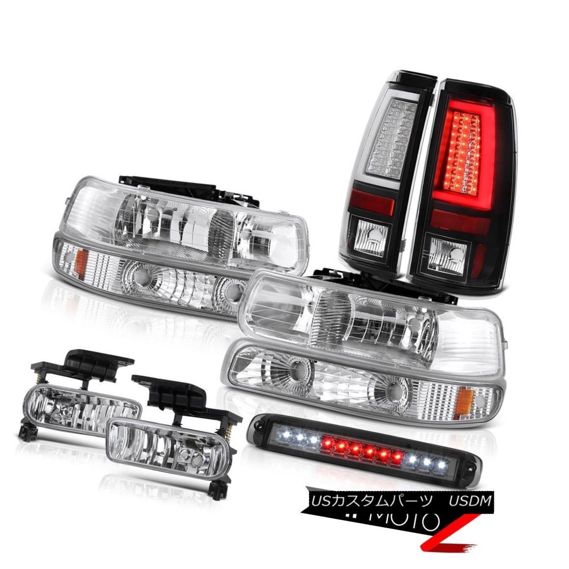 テールライト 99-02 Silverado 3500HD Tail Brake Lights Roof Cab Light Headlamps Fog OLED Prism 99-02 Silverado 3500HDテールブレーキライトルーフキャブライトヘッドランプフォグOLEDプリズム