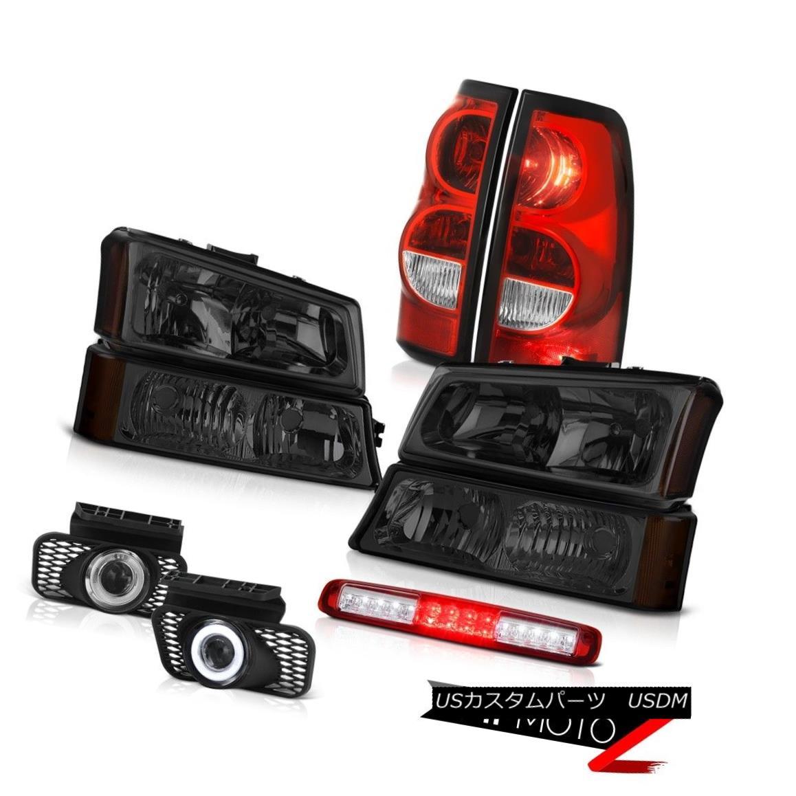 テールライト 03-06 Silverado Red Third Brake Light Foglights Rear Lamps Signal Lamp Headlamps 03-06シルバラードレッド第3ブレーキライトフォグライトリアランプシグナルランプヘッドランプ
