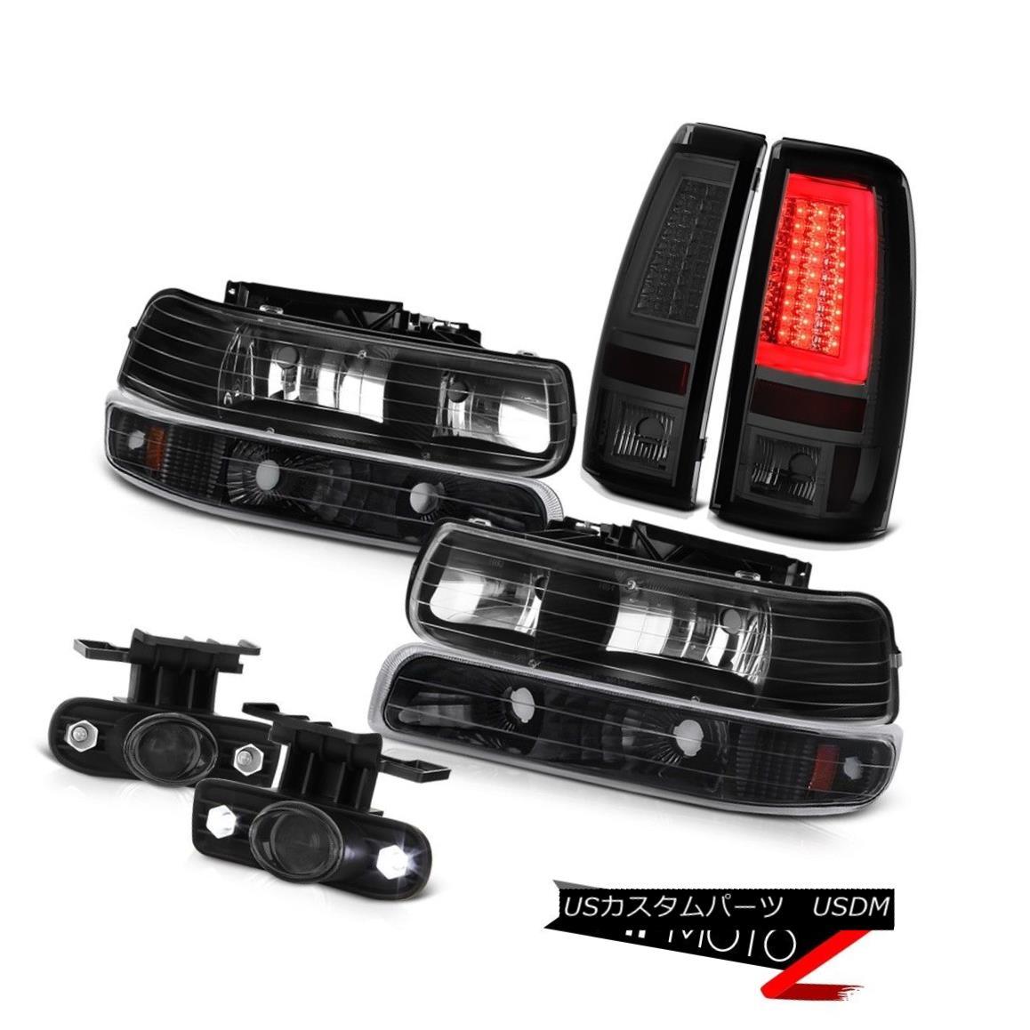 テールライト 1999-2002 Silverado 4WD Smokey Taillamps Black Headlamps Foglamps