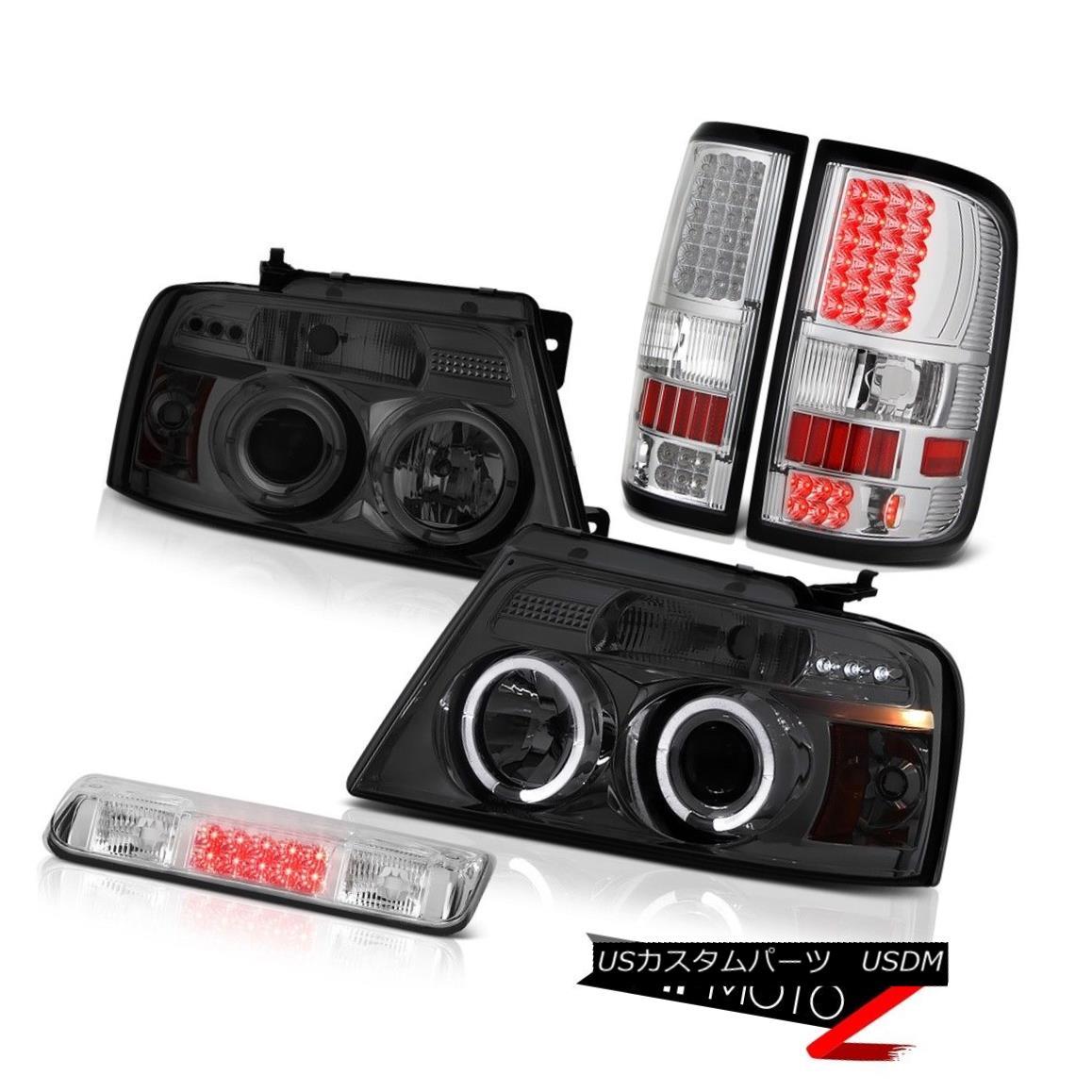 テールライト 04-08 Ford F150 FX4 Chrome Third Brake Lamp Taillights Headlamps LED Angel Eyes 04-08フォードF150 FX4クローム第3ブレーキランプテールライトヘッドランプLEDエンジェルアイズ