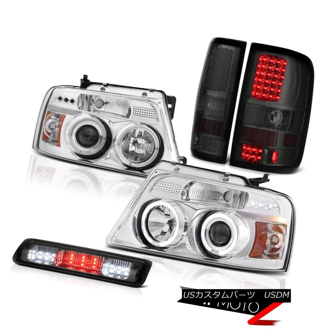 テールライト 04-08 Ford F150 STX Roof Cab Light Tail Lamps Headlights Halo Rim