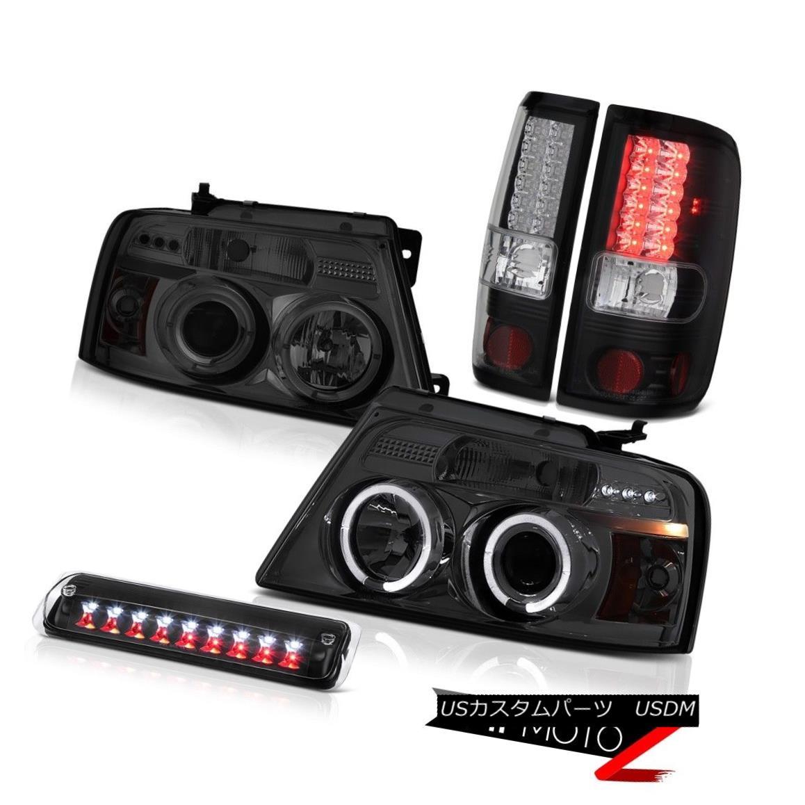 テールライト 04 05 06 07 08 Ford F150 XLT Roof Cargo Light Smoked Headlights Rear Brake Lamps 04 05 06 07 08フォードF150 XLT屋根カーゴライトスモークヘッドライトリアブレーキランプ