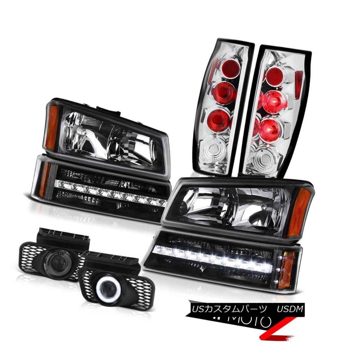 テールライト 03-06 Avalanche 1500 Fog Lights Tail Matte Black Parking Light Headlights Euro 03-06雪崩1500霧ライトテールマットブラック駐車ライトヘッドライトユーロ