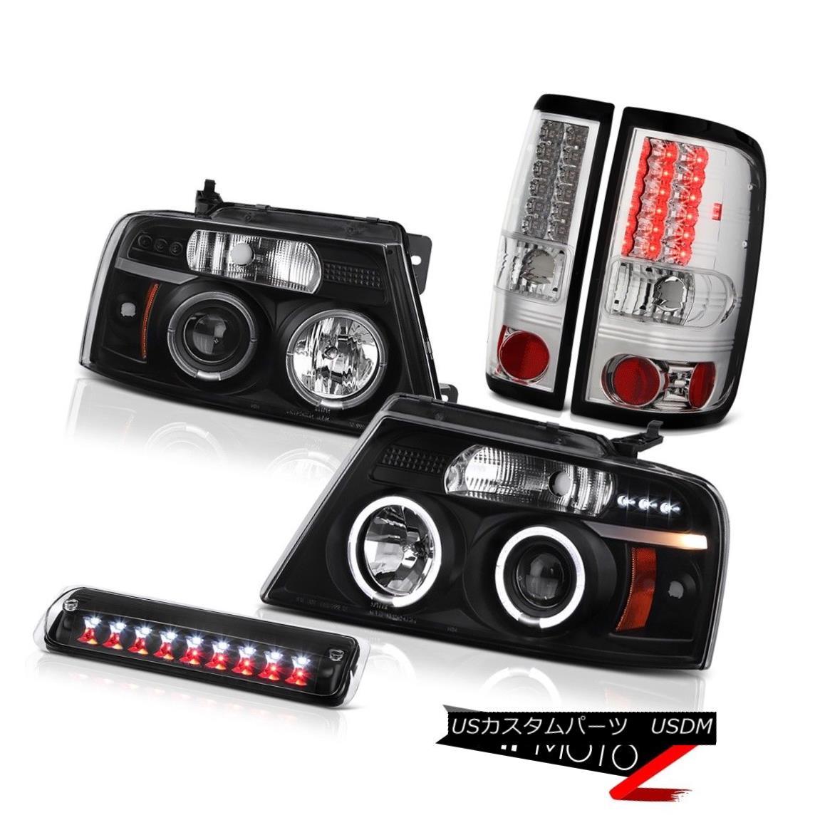 テールライト 2004-2008 Ford F150 XL Roof Cab Light Headlamps Parking Brake Lights Halo Rim 2004-2008フォードF150 XLルーフキャブライトヘッドランプパーキングブレーキライトHalo Rim