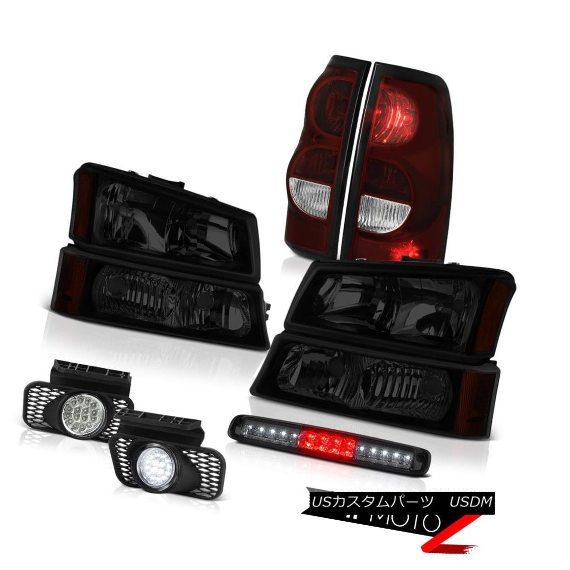 テールライト 2003-2006 Silverado Roof Brake Light Fog Lights Parking Headlights LED Assembly 2003年 - 2006年シルラードルーフブレーキライトフォグライトパーキングヘッドライトLEDアセンブリ