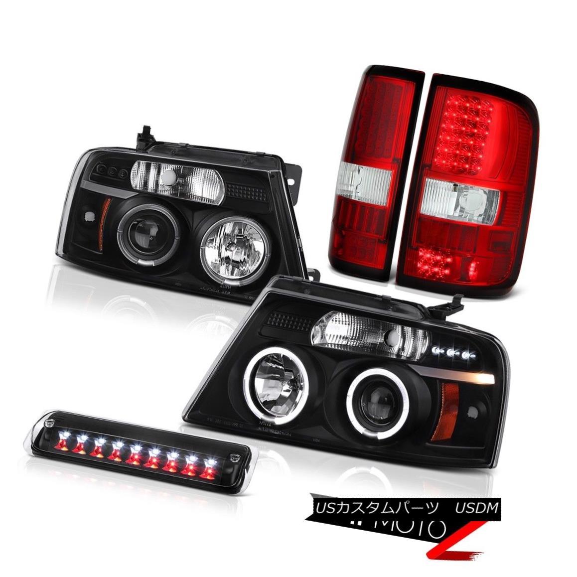 テールライト 04-08 Ford F150 Lariat Black Third Brake Lamp Rosso Red Tail Lights Headlights 04-08 Ford F150 Lariat Black第3ブレーキランプロッソレッドテールライトヘッドライト