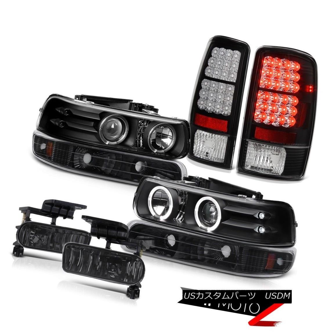 テールライト Blk Angel Eye Headlights Signal LED Tail Lamp Dark Smoke Fog 00-06 Suburban 5.3L Blk Angel Eyeヘッドライト信号LEDテールランプダークスモークフォグ00-06郊外5.3L