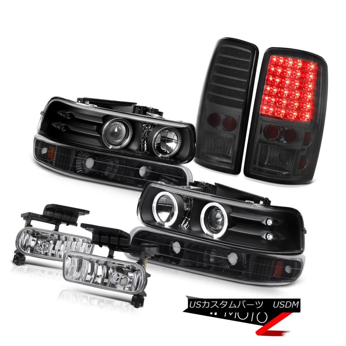 テールライト Dual Halo Headlights Black Bumper Tail Lights LED Tint Fog 2000-06 Suburban デュアルヘイローヘッドライトブラックバンパーテールライトLED Tint Fog 2000-06郊外