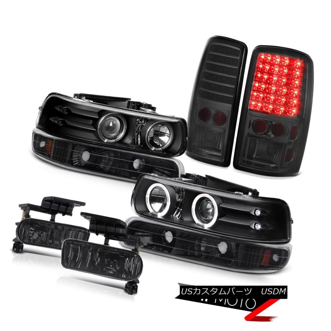 テールライト Angel Eye Headlights Smoke LED Brake Lamps Foglights 2000-2006 Suburban LT エンジェルアイヘッドライトスモークLEDブレーキランプフォグライト2000-2006郊外LT