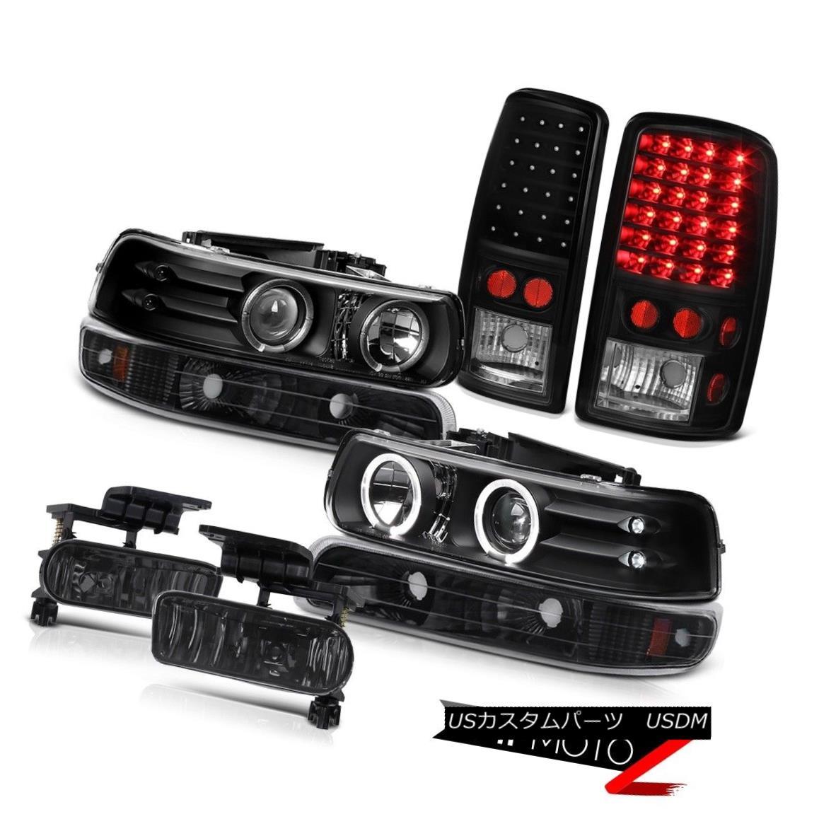テールライト L.E.D DRL Halo Headlights Blk Brake Lights Driving Fog 2000-2006 Suburban 5.3L L.E.D DRLハローヘッドライトBlkブレーキライトドライビングフォグ2000-2006郊外5.3L