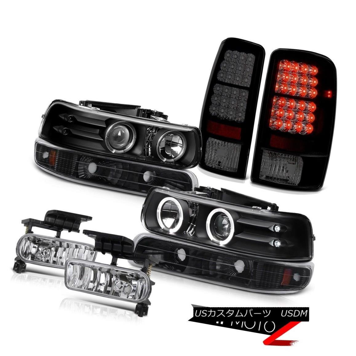 テールライト Halo Projector Headlamps Blk LED Tail Lights Lamps Fog 2000-2006 Suburban 8.1L HaloプロジェクターヘッドランプBlk LEDテールライトランプFog 2000-2006郊外8.1L