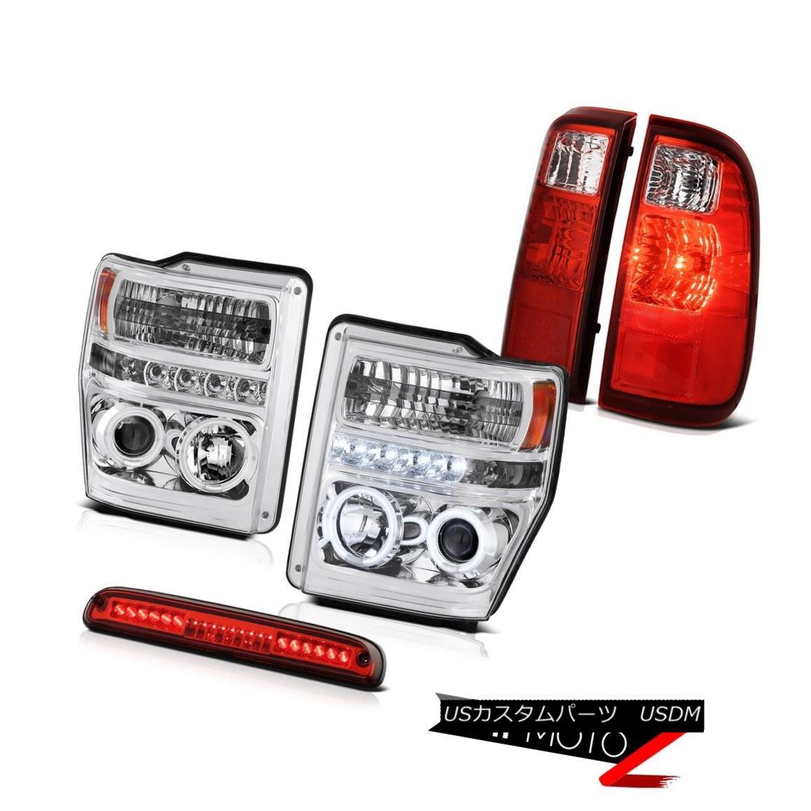 テールライト Euro CCFL Headlight High Stop LED Red Tail Light 2008 2009 2010 F250 F350 Lariat ユーロCCFLヘッドライトハイストップLEDレッドテールライト2008 2009 2010 F250 F350ラリアット
