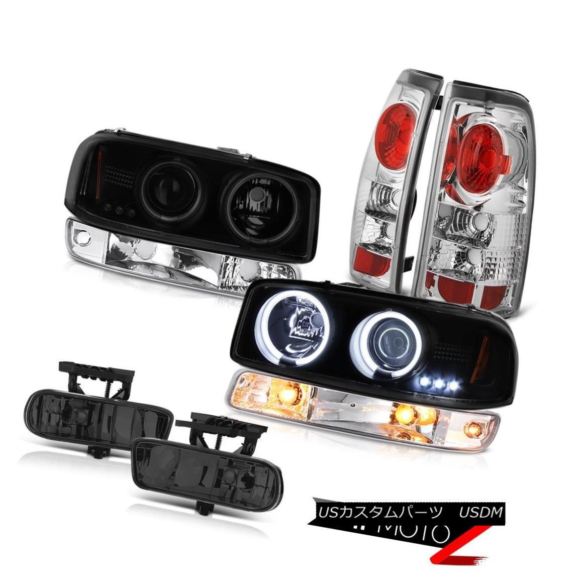 テールライト 99-02 Sierra SLE Fog lights clear chrome tail parking light ccfl Headlights LED 99-02シエラSLEフォグライトクリアクロムテールパーキングライトccflヘッドライトLED