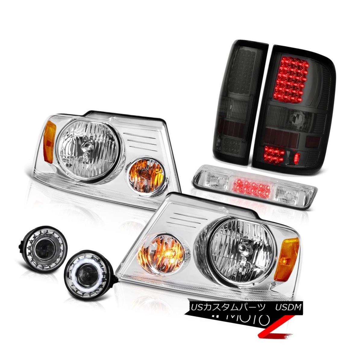 テールライト 06-08 Ford F150 XLT Euro Chrome Foglamps Roof Cab Light Headlights Tail Lights 06-08 Ford F150 XLTユーロクロームフォグランプルーフキャブライトヘッドライトテールライト
