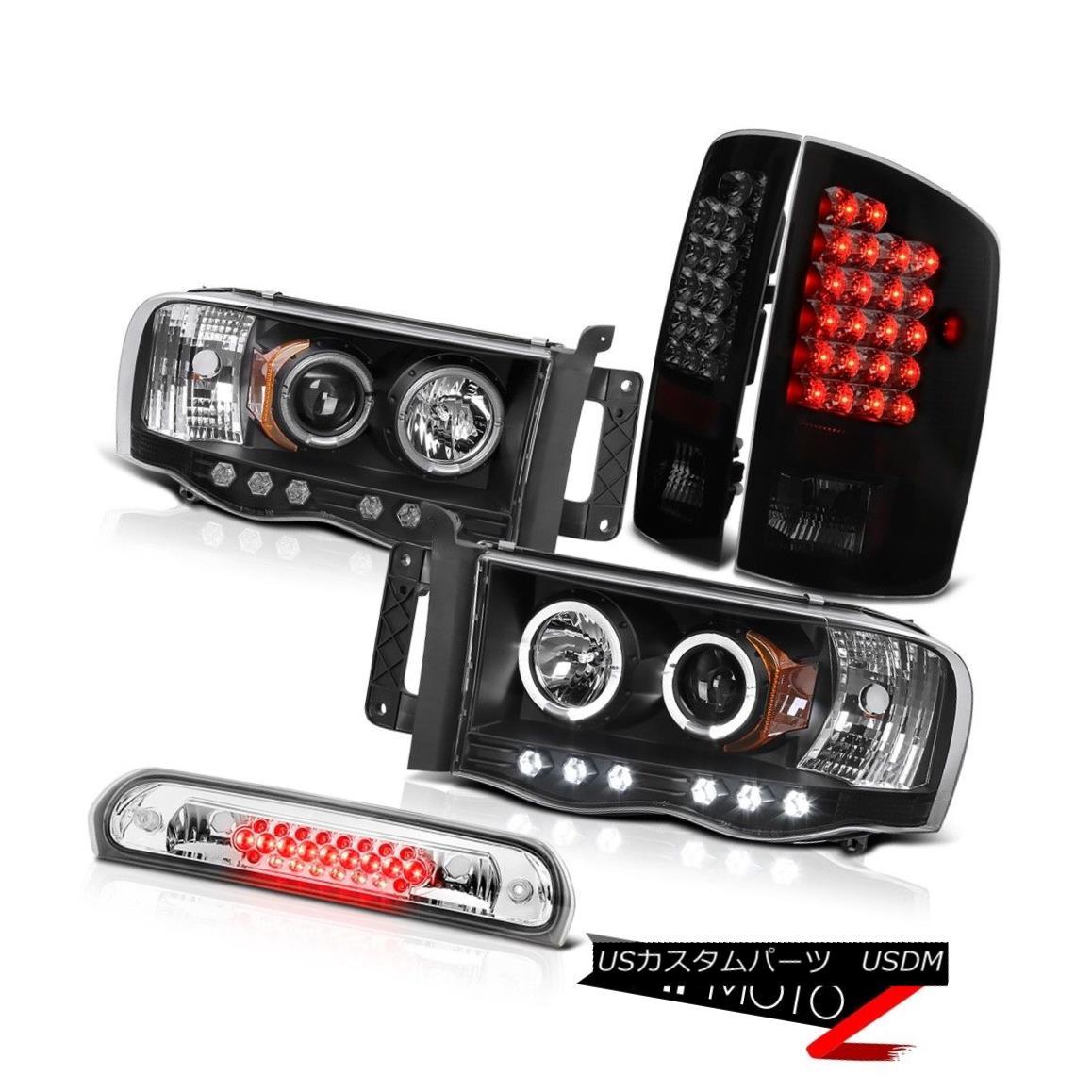 テールライト Angel Eye Projector Headlights Tail Lights Chrome Brake LED 02 03 04 05 Ram 2500 エンジェルアイプロジェクターヘッドライトテールライトクロームブレーキLED 02 03 04 05 Ram 2500