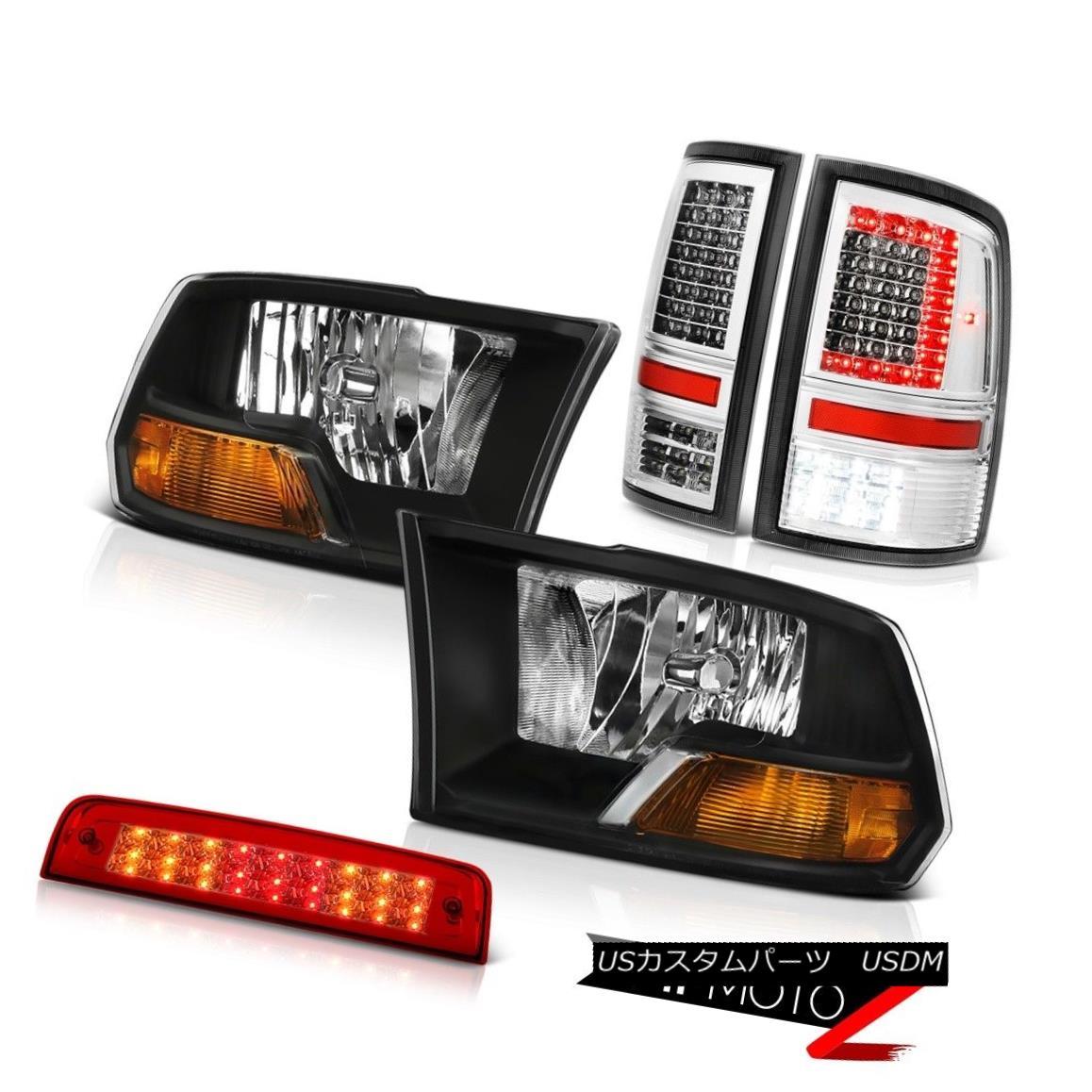 テールライト 09-16 17 18 Dodge RAM 3500 Tail Lights Red Clear Brake Factory Style Headlamps 09-16 17 18ダッジRAM 3500テールライトレッドクリアブレーキファクトリーヘッドランプ