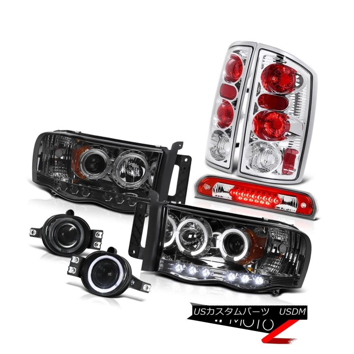 テールライト 2002-2005 Ram Magnum V8 Headlight Euro Taillamps Foglights Third Brake Cargo LED 2002 - 2005年ラムマグナムV8ヘッドライトユーロタイヤラップフォグライト第3ブレーキカーゴLED